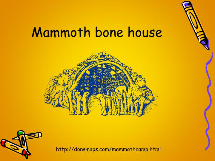 Mammoth bone house
