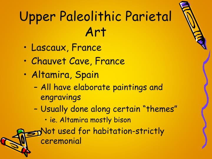 Upper Paleolithic Parietal Art