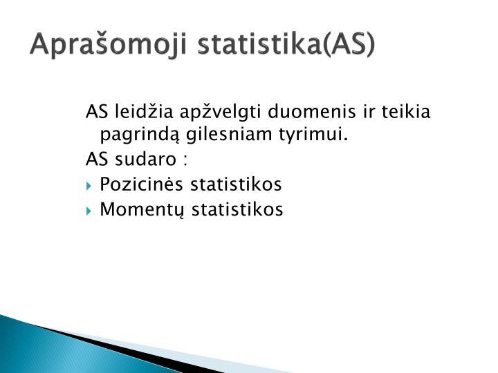 Aprašomoji statistika