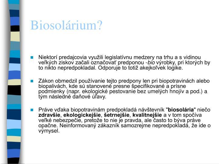 Biosolárium?