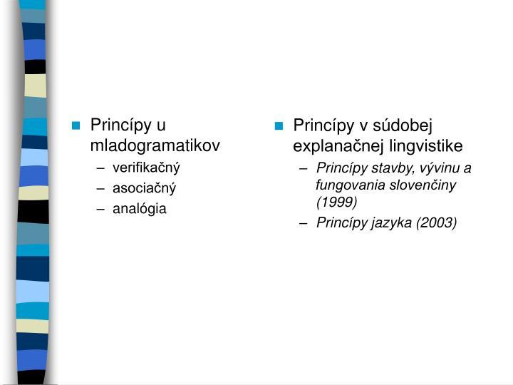 Princípy u mladogramatikov
