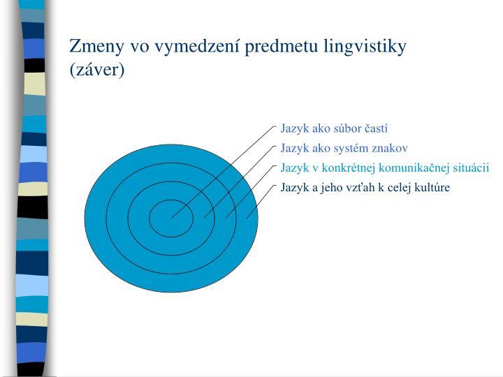 Zmeny vo vymedzení predmetu lingvistiky