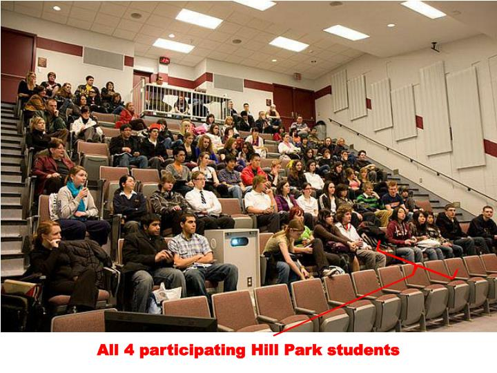 All 4 participating Hill Park students