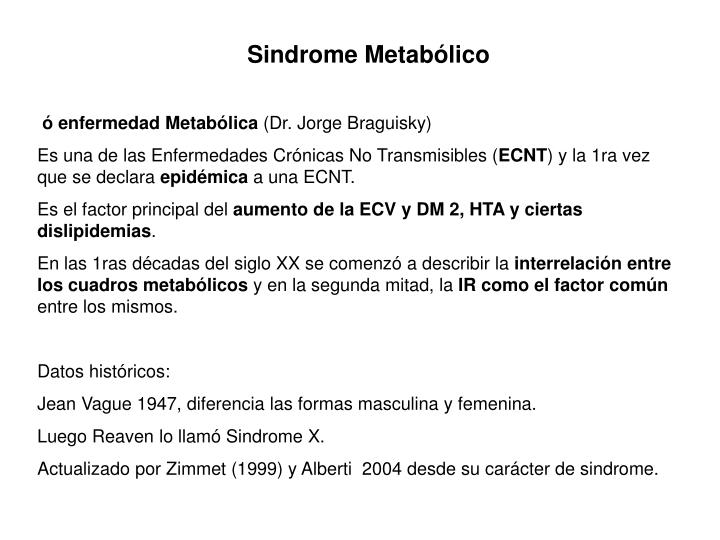 Sindrome Metabólico