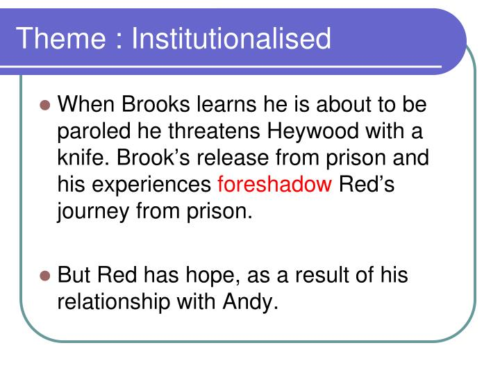 Theme : Institutionalised