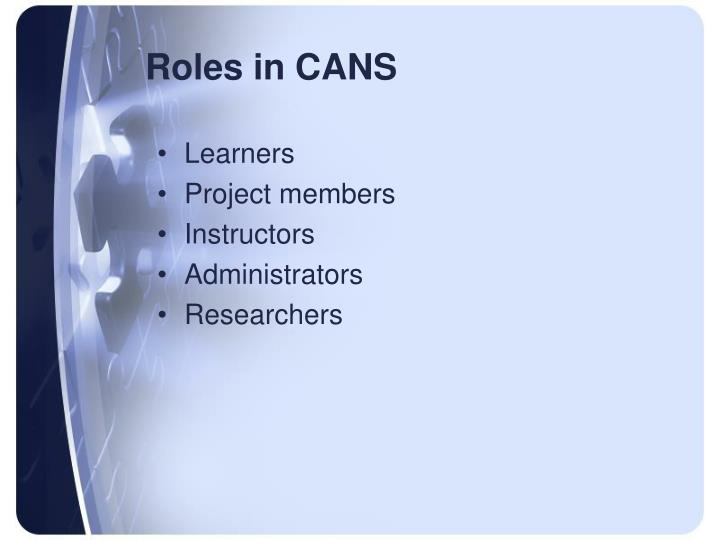 Roles in CANS
