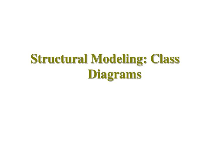 Structural modeling class diagrams