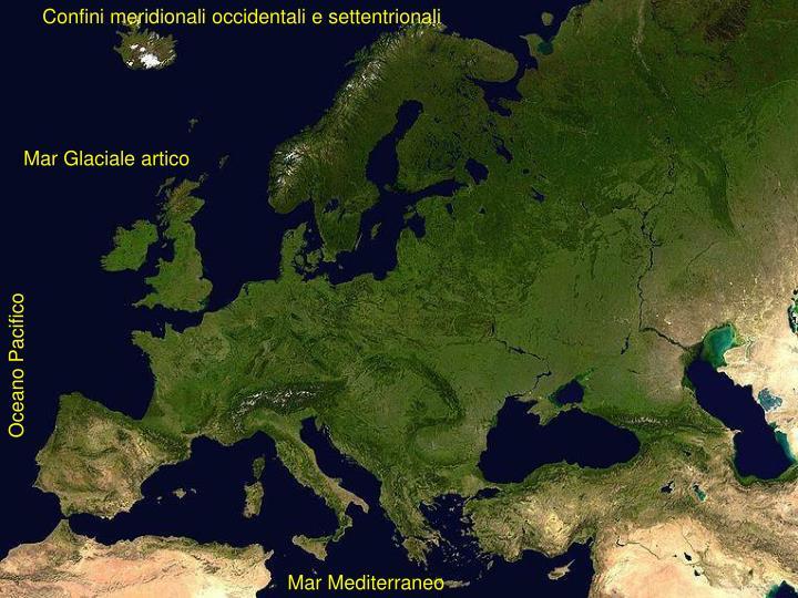 Confini meridionali occidentali e settentrionali