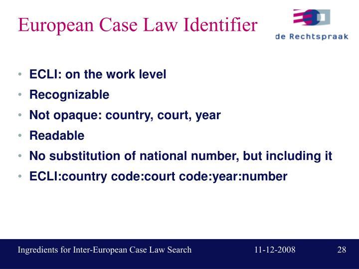 European Case Law Identifier