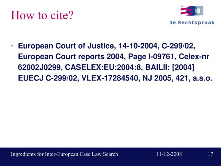 How to cite?