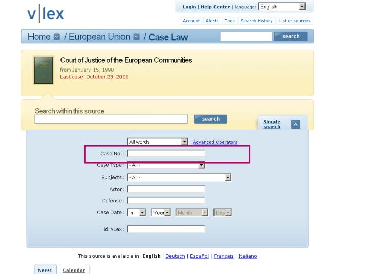 Ingredients for Inter-European Case Law Search