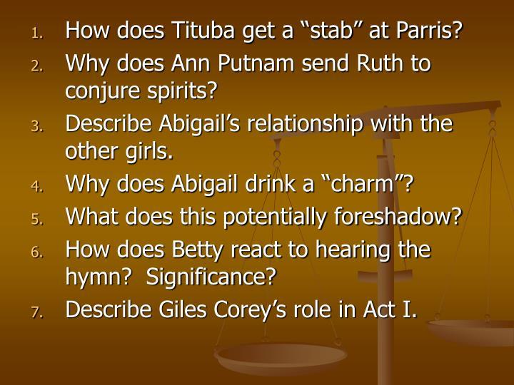 parris and putnam relationship