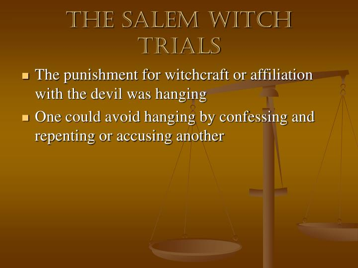 the millers gestures in salem witch trials The real story of the witch trials skip to content the atlantic popular latest sections how satan came to salem the real story of the witch trials narratives indeed, previous generations of chroniclers often downplayed this element of the witchcraft drama miller, for.