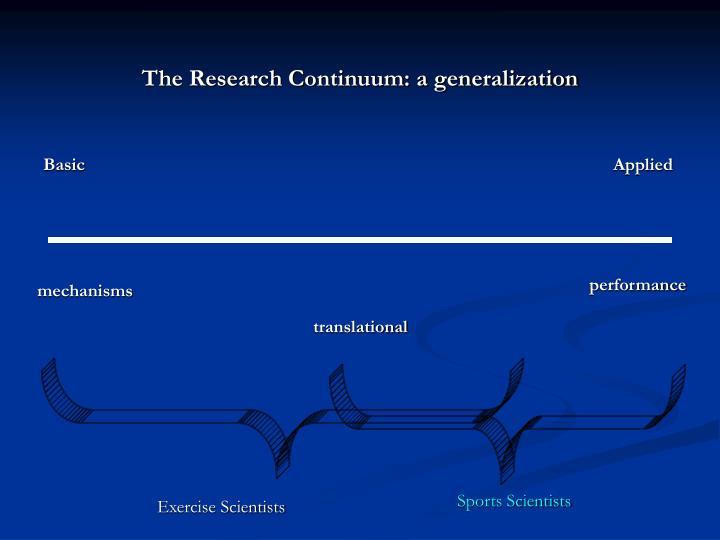 The Research Continuum: a generalization