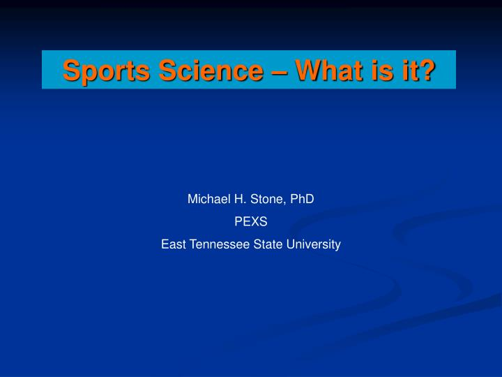 Sports Science – What is it?