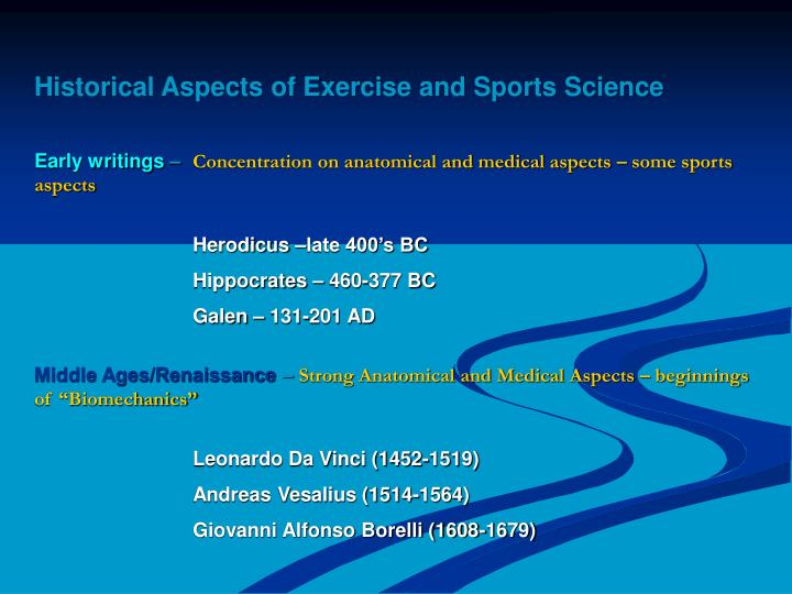 Historical Aspects of Exercise and Sports Science