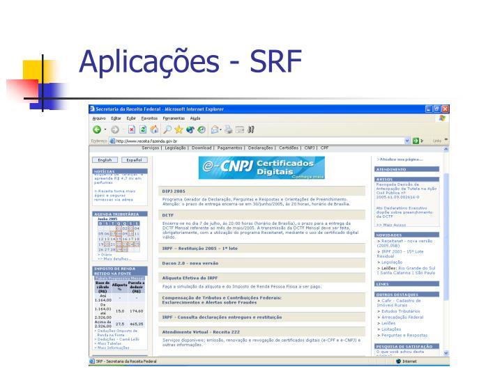 Aplicações - SRF
