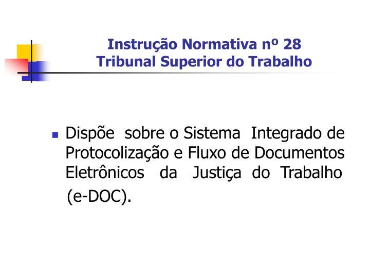 Instrução Normativa nº 28
