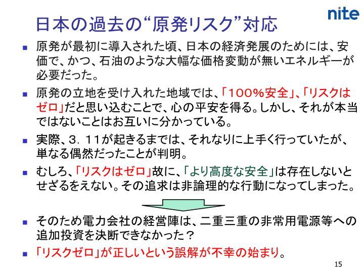 """日本の過去の""""原発リスク""""対応"""