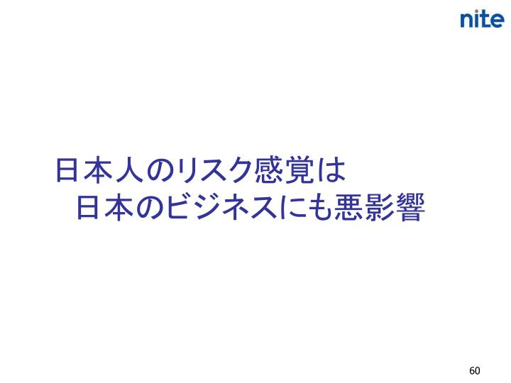 日本人のリスク感覚は