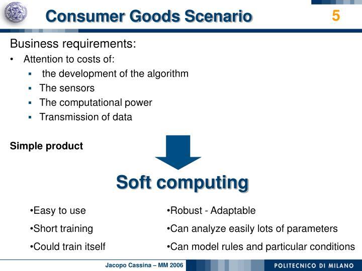 Consumer Goods Scenario