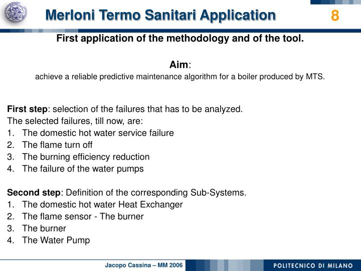 Merloni Termo Sanitari Application