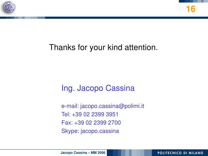 Ing. Jacopo Cassina