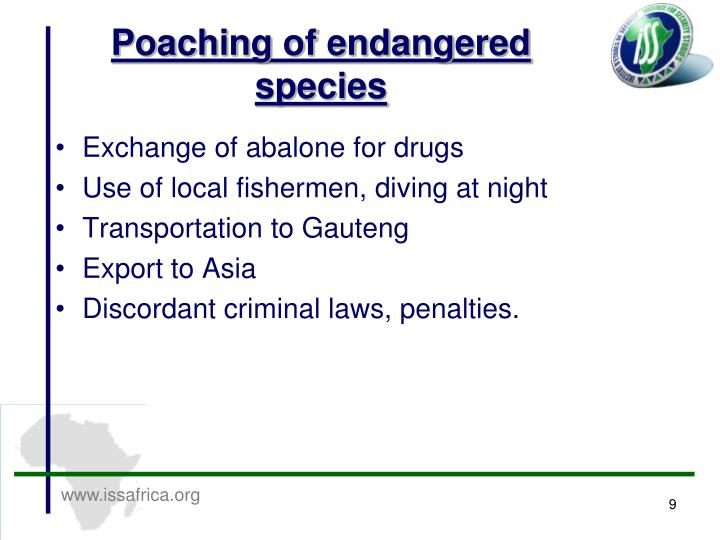 Poaching of endangered species