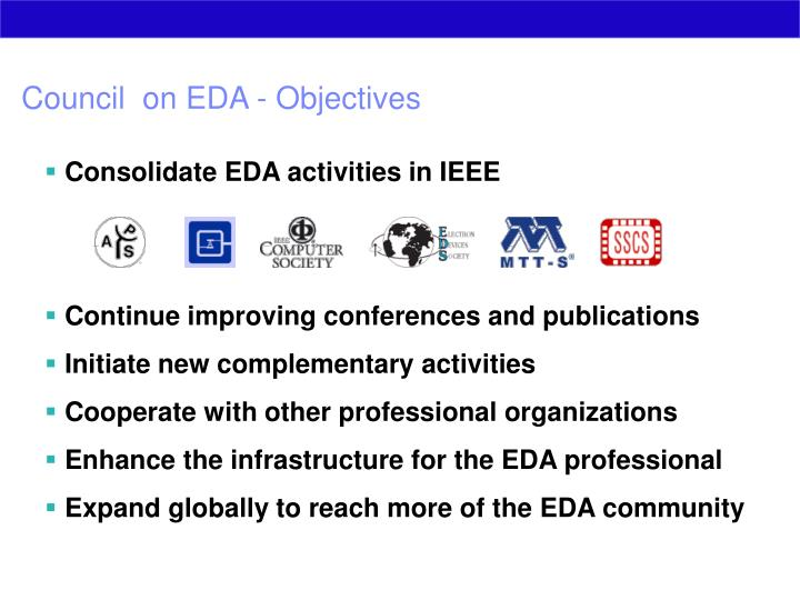 Council  on EDA - Objectives