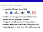 council on eda objectives