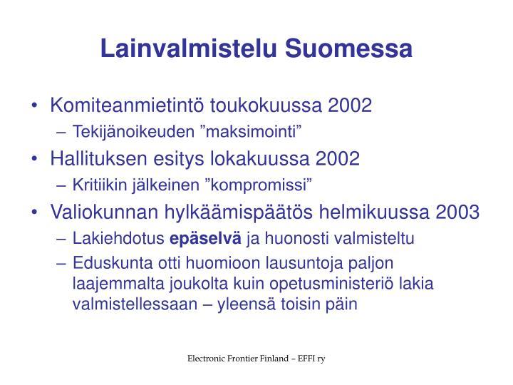 Lainvalmistelu Suomessa