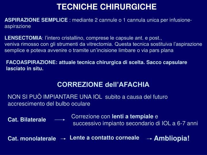TECNICHE CHIRURGICHE