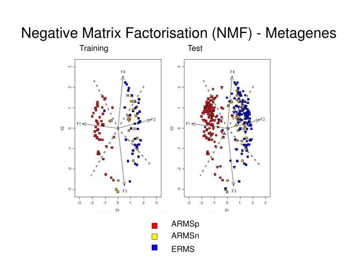 Negative Matrix Factorisation (NMF) - Metagenes