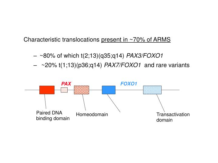 Characteristic translocations