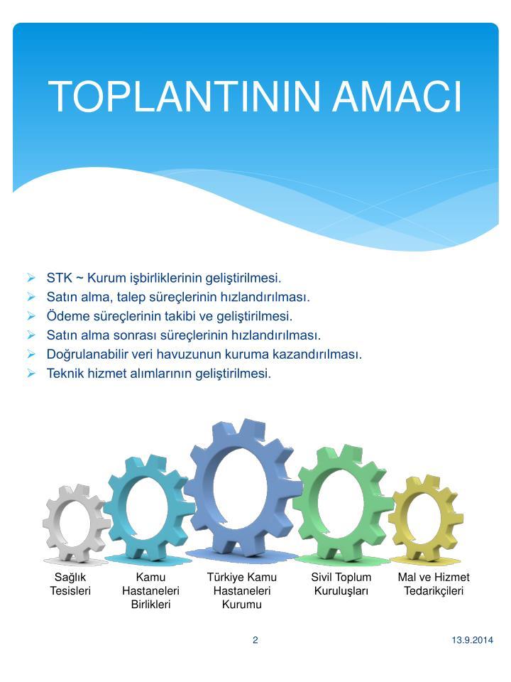 TOPLANTININ AMACI