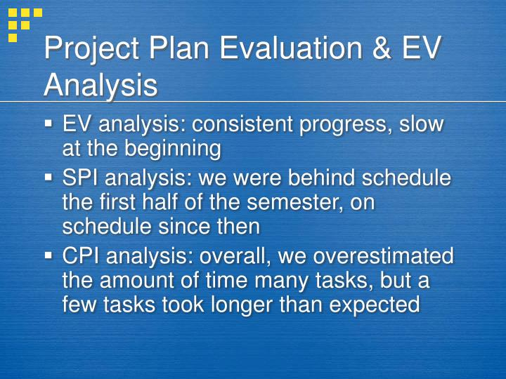 Project Plan Evaluation & EV Analysis