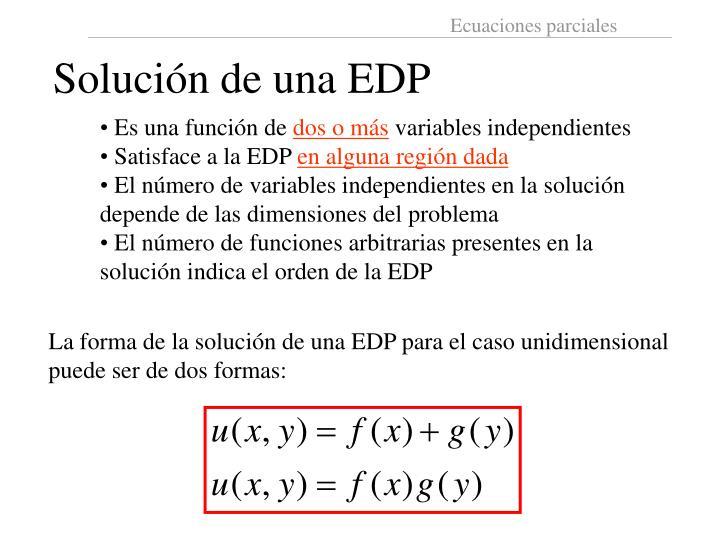 Solución de una EDP