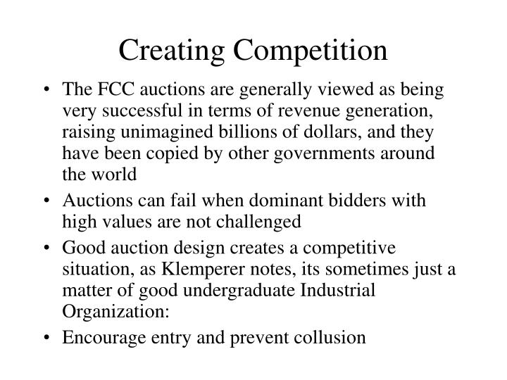 Creating Competition