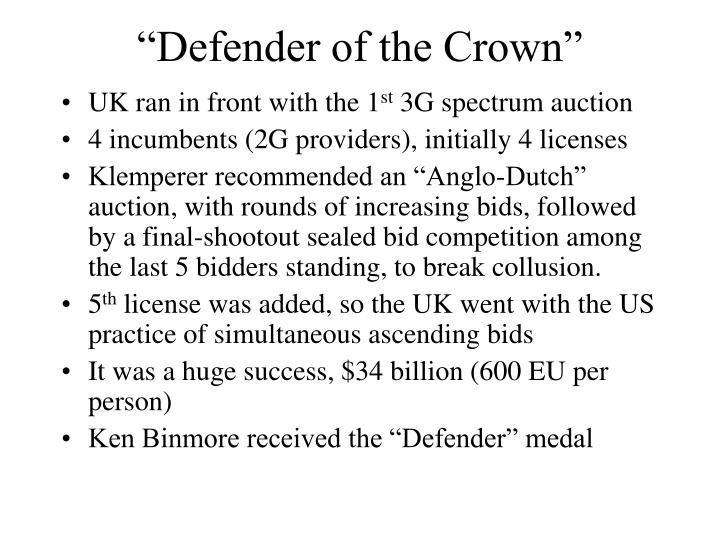 """Defender of the Crown"""