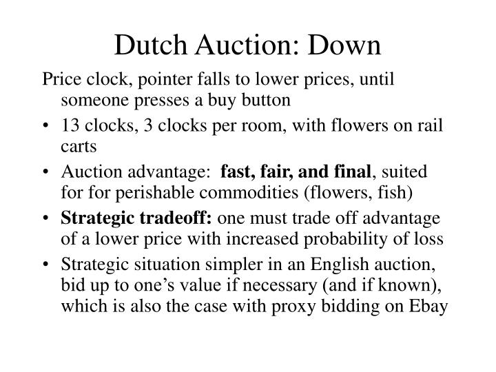 Dutch Auction: Down