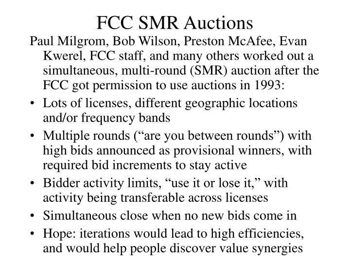 FCC SMR Auctions
