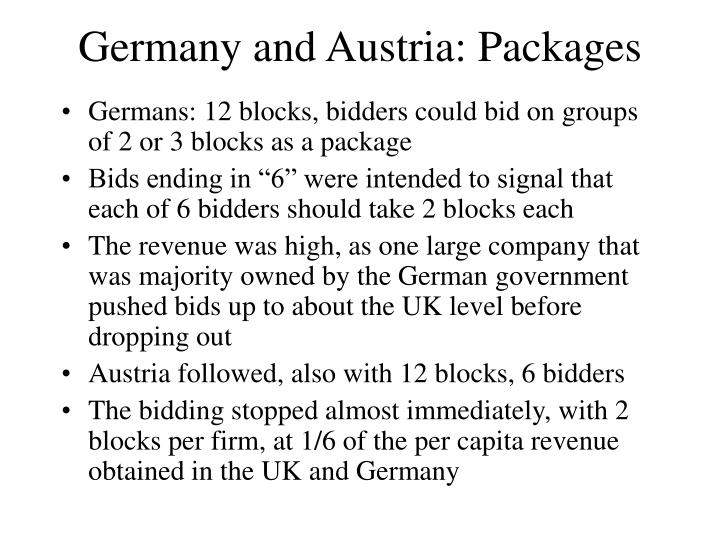 Germany and Austria: Packages