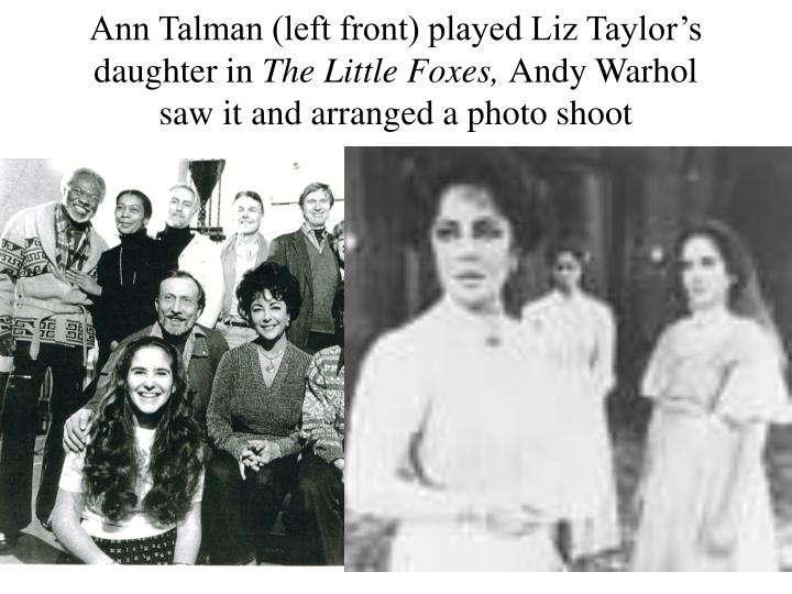 Ann Talman (left front) played Liz Taylor's daughter in