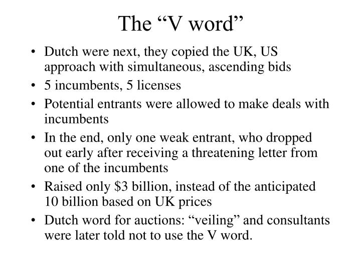 "The ""V word"""