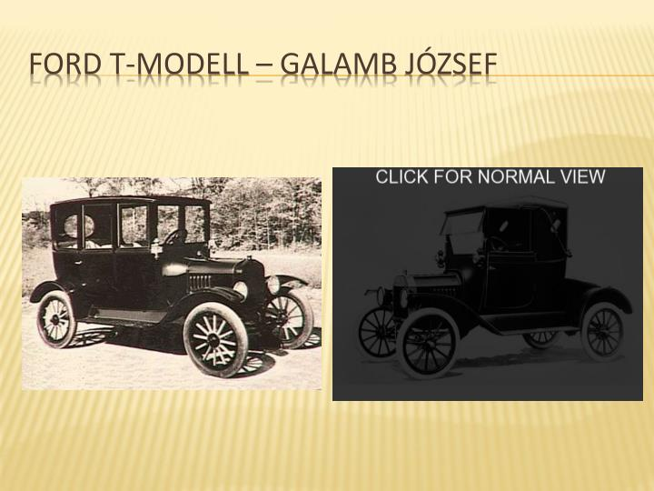 Ford t-modell – Galamb