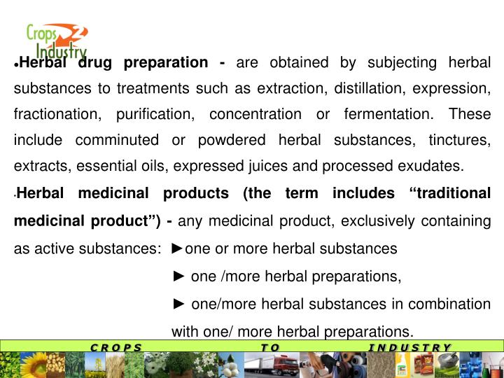 Herbal drug preparation -