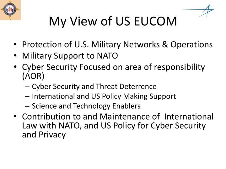 My View of US EUCOM