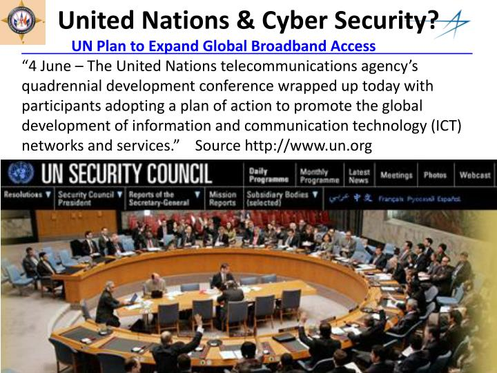 United Nations & Cyber Security?