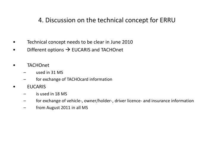 4. Discussion on the technical concept for ERRU
