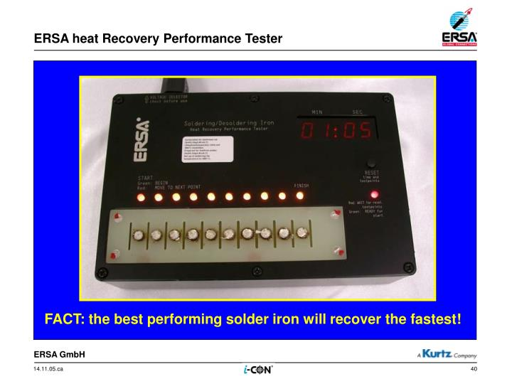 ERSA heat Recovery Performance Tester